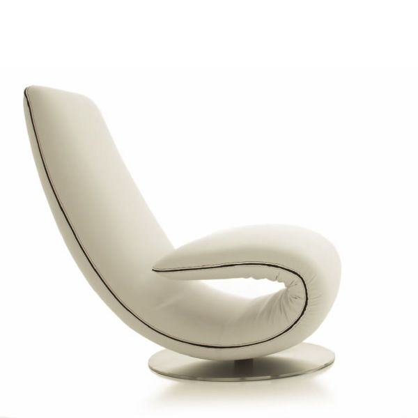 7865 ricciolo design armchair and chaise longue by tonin for Casa chaise longue