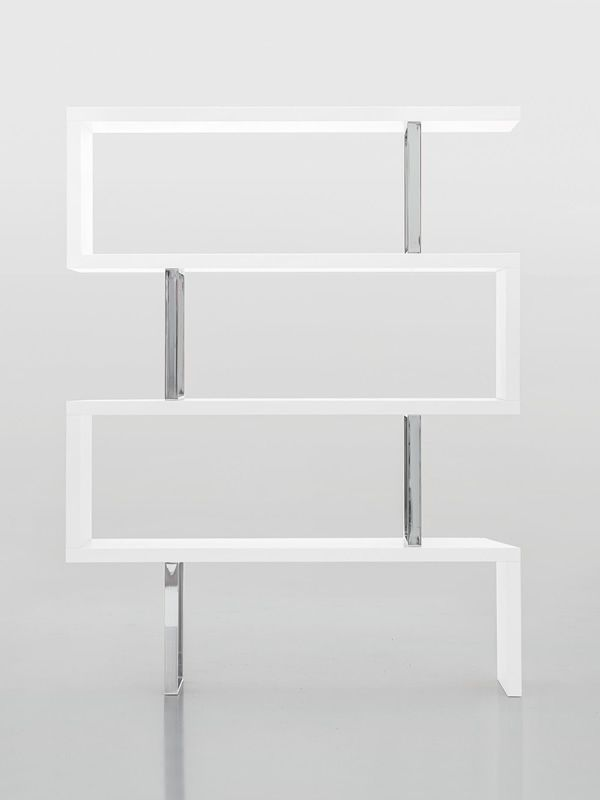 Trafalgar 7246 tonin casa bookcase made of veneered wood several finishes a - Bibliotheque blanc laque ...
