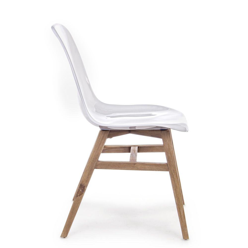 Sedia In Teak Con Seduta In Fibra Di Vetro, Anche