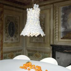 Bloom - Kartell suspension ceiling lamp, made of technopolymer, in several colours available