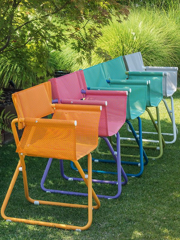 Snooze R Garden Chairs With Metal Structure Varnished In Orange Lilac Blue