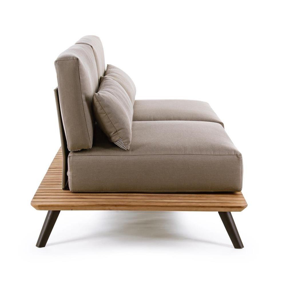 oka canap de jardin en aluminium et bois de teck d houssable sediarreda. Black Bedroom Furniture Sets. Home Design Ideas