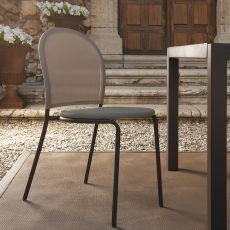 Curvy - Modern chair in metal and textilene, available in several colours, also for garden