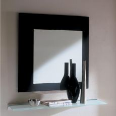 Square - Bontempi Casa designer mirror with glass frame, white or black, available square or rectangular in different sizes