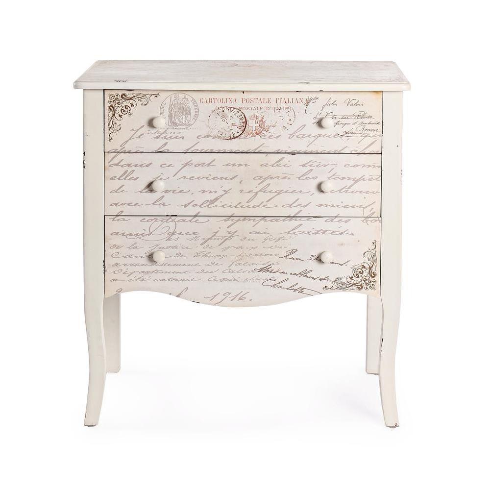 shakespeare 3c commode shabby chic en bois avec 3 tiroirs sediarreda. Black Bedroom Furniture Sets. Home Design Ideas