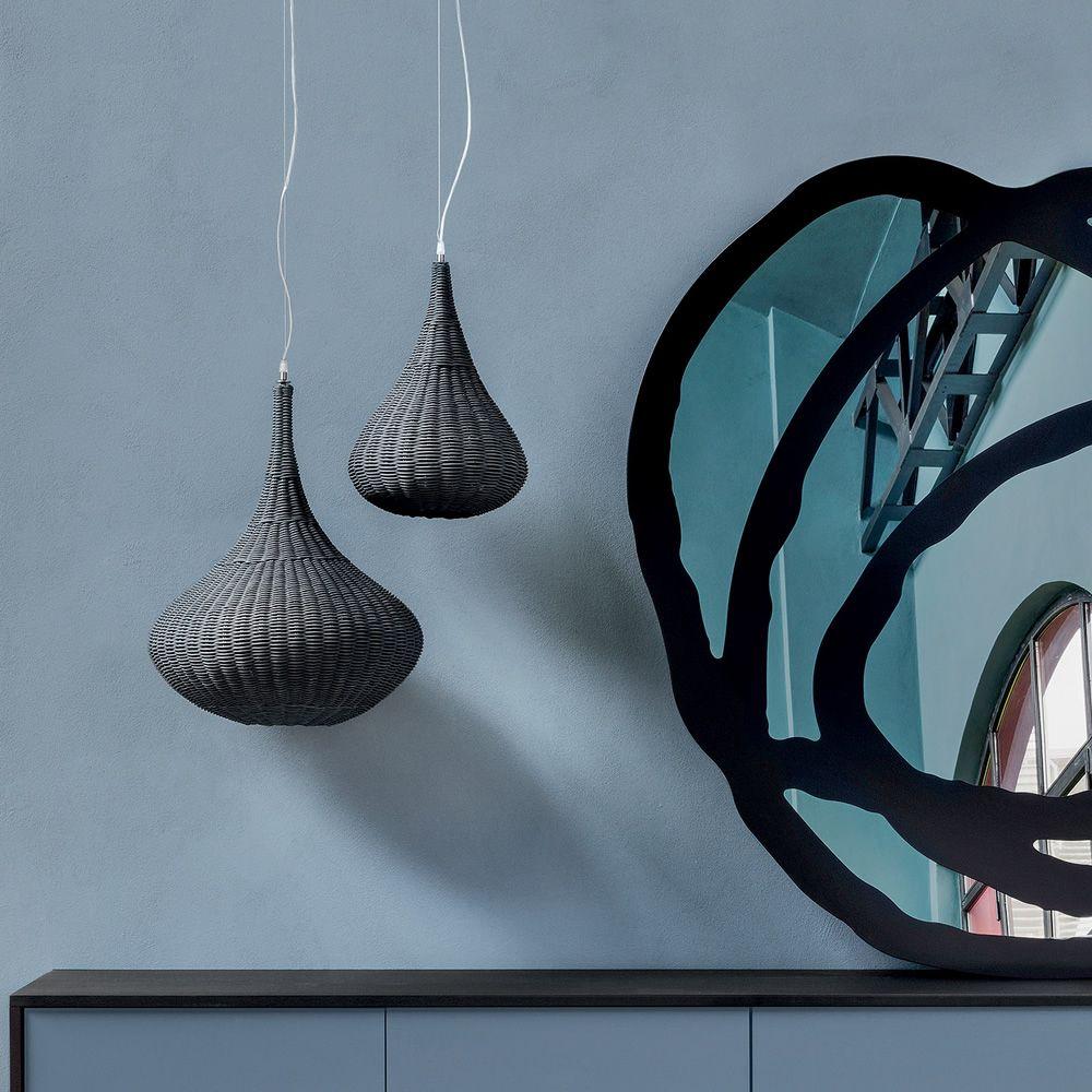 spin 95 96 lampe suspension gervasoni en rotin. Black Bedroom Furniture Sets. Home Design Ideas