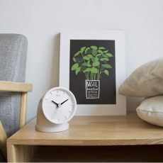 Plumber - Table design clock, in ceramic available in several colours