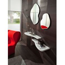 PA305 - Modern entrance including shelves, mirrors and hangers, available in several colours