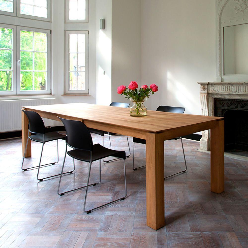 Slice a mesa ethnicraft de madera en distintos acabados for Mesa extensible de madera