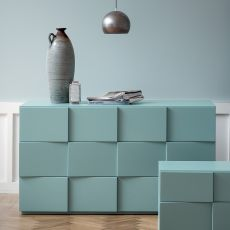 Tip Tap - Dall'Agnese chest of drawers made of wood, different finishes available, three drawers