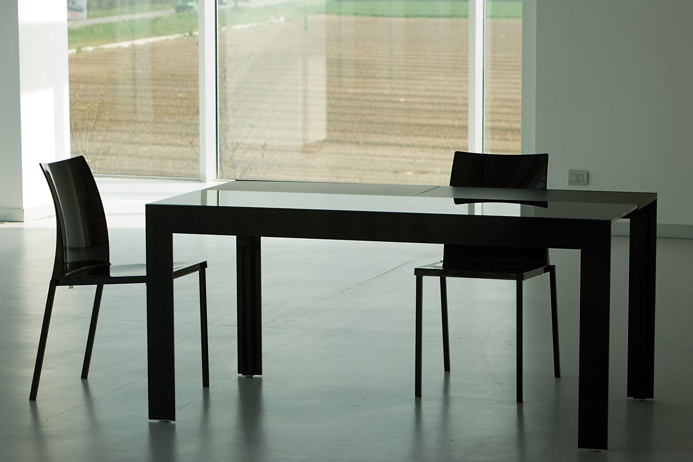 Matrix consolle consolle pedrali trasformabile in tavolo for Consolle in vetro