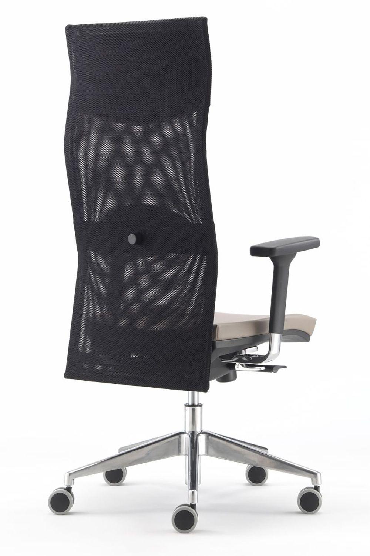 Ml496 sedia operativa da ufficio schienale alto in rete for Sedia da ufficio