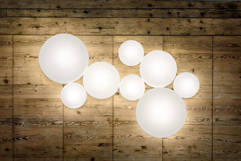 Makeup lampada a soffitto o parete di design in metallo for Lampade a led grandi