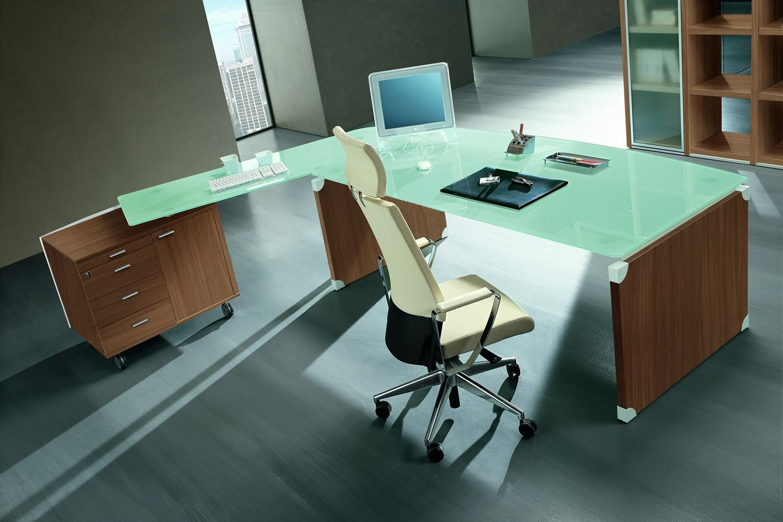 Scrivania Ufficio Vetro : X time work scrivania da ufficio con penisola e mobile di