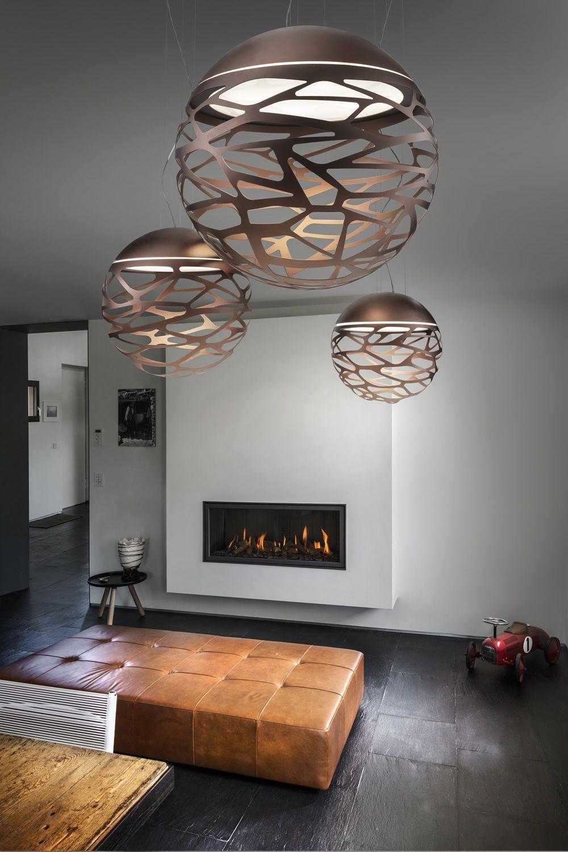 Kelly sphere lampe design suspension en m tal for Lampe kartell bourgie petit modele