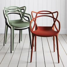 Masters - Kartell design chair, polypropylene in different colours, stackable, also for garden