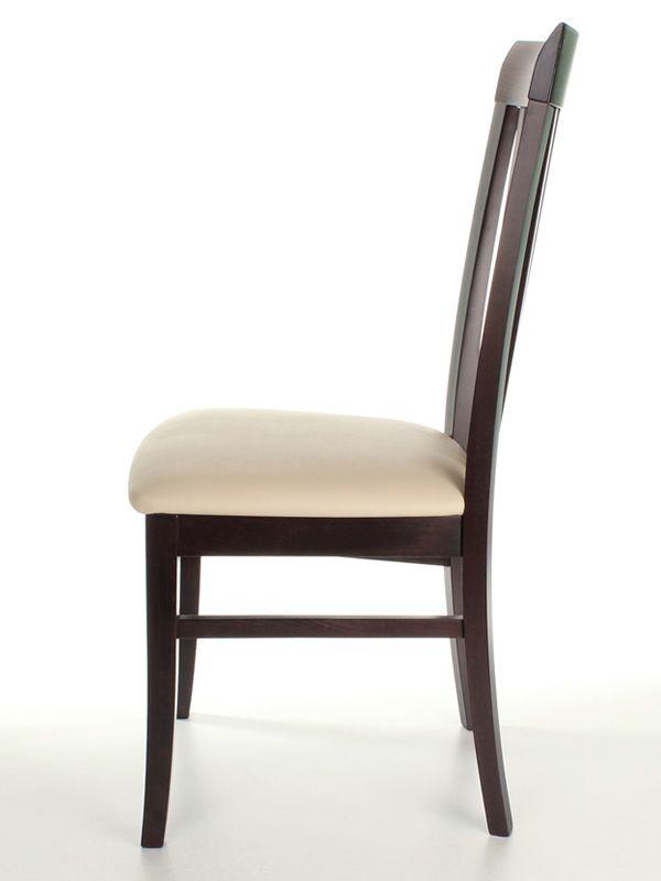 MU100 Sedia in legno, con seduta imbottita, diversi