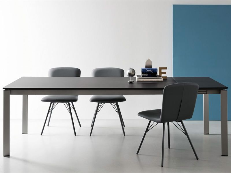 Cb4724 M 130 Eminence A Connubia Calligaris Metal Table Different Tops Available 130 X 90
