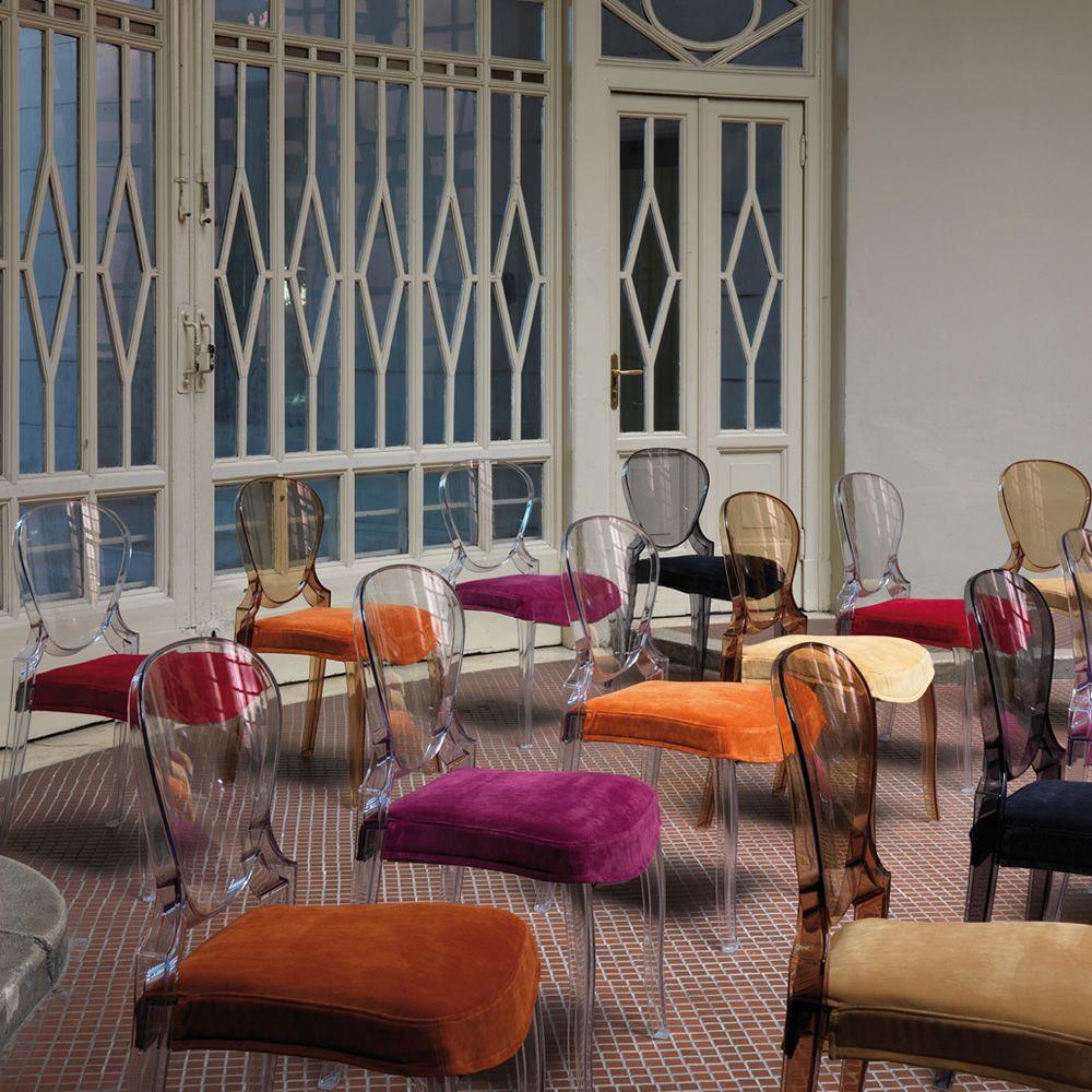 queen 650 stuhl pedrali aus polykarbonat stapelbar auch mit sitzauflage auch f r den garten. Black Bedroom Furniture Sets. Home Design Ideas