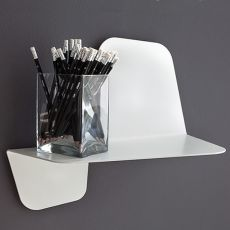 Flap Mensola - Wall shelf made of metal, available in different sizes and colors