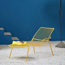 Nolita chaise longue - Lettino Pedrali in metallo, per esterno