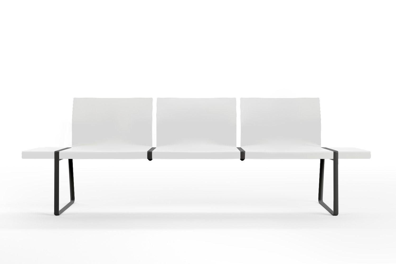 plural banc pour salles d 39 attente pedrali en m tal et polypropyl ne 3 ou 4 places sediarreda. Black Bedroom Furniture Sets. Home Design Ideas