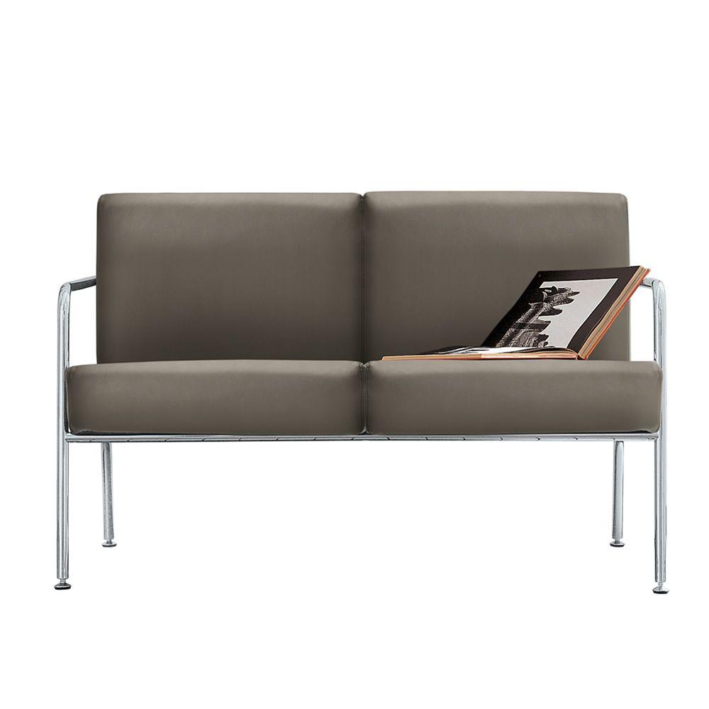 Billy 2 divano moderno midj in metallo seduta in pelle - Divano pelle o tessuto ...