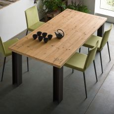 Antillo - Design table, 160x90 cm, with metal structure, top in different materials and finishes