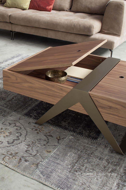 matrioska 6278 beistelltisch tonin casa mit metallgestell platte aus holz mit beh lter. Black Bedroom Furniture Sets. Home Design Ideas