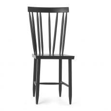 Family No.4 - Stuhl aus lackiertem Bucheholz in Weiss oder Schwarz, hohe Rückenlehne