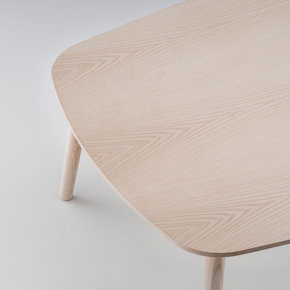 Malmo T Designer Beistelltisch Aus Holz Mit Runder Oder