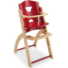 Pappy-Re - Pali high chair in wood, also with tray, available in several colours