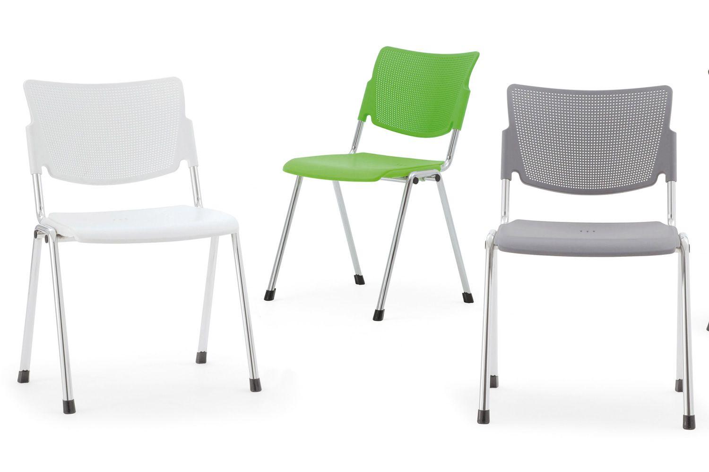 Ml104 sedia per sala d 39 attesa o conferenza impilabile for Sedie attesa ufficio