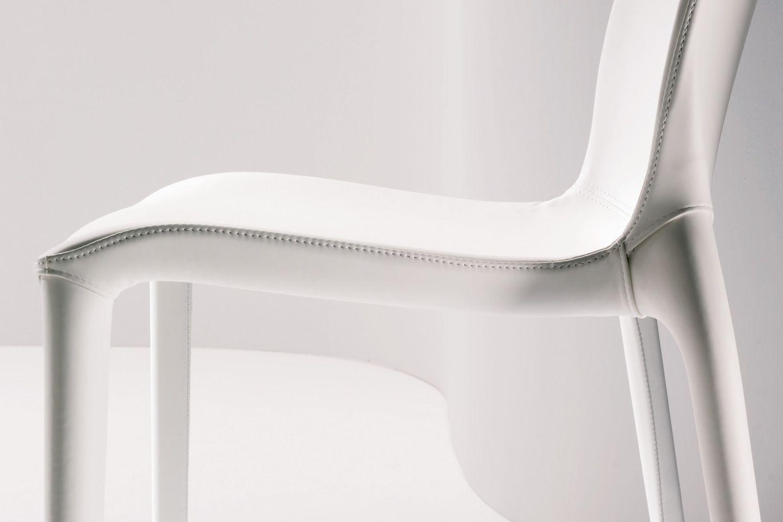 Hidra soft sedia rivestita bontempi casa in polipropilene con