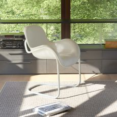 Sled - Silla Slide de metal con asiento de poliuretano suave, disponible en varios colores