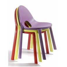 Drop - Chair in polypropylene, stackable, different colours, also for outdoor