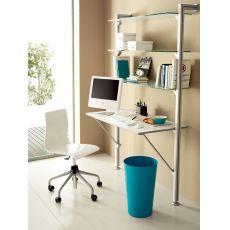 Gel-D - Sedia da ufficio Domitalia in metallo e SAN, regolabile in altezza, con ruote, diversi colori disponibili