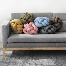 Knot - Design cushion covered with fabric, different colours available