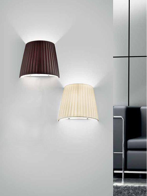 FA2960P - Lampada da parete in metallo e tessuto - Sediarreda