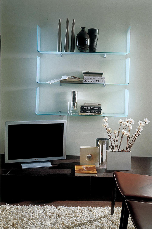 osaka mensola di design bontempi casa in vetro
