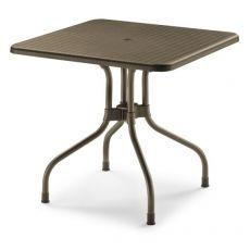 Olimpo 2197 - Tavolo da giardino con piano ribaltabile, 80x80 cm