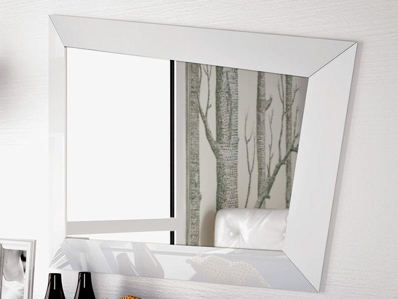 Look specchio moderno con cornice in legno o cristallo sediarreda - Specchio con cornice ...