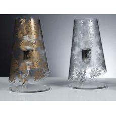 Babette T - Lampe de table moderne en polycarbonate, paralume anti reflet décoré