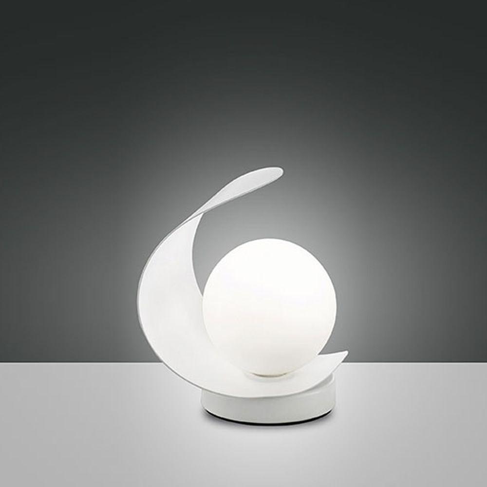 fa3414dt tischlampe aus metall und geblasenem glas mit led beleuchtung sediarreda. Black Bedroom Furniture Sets. Home Design Ideas