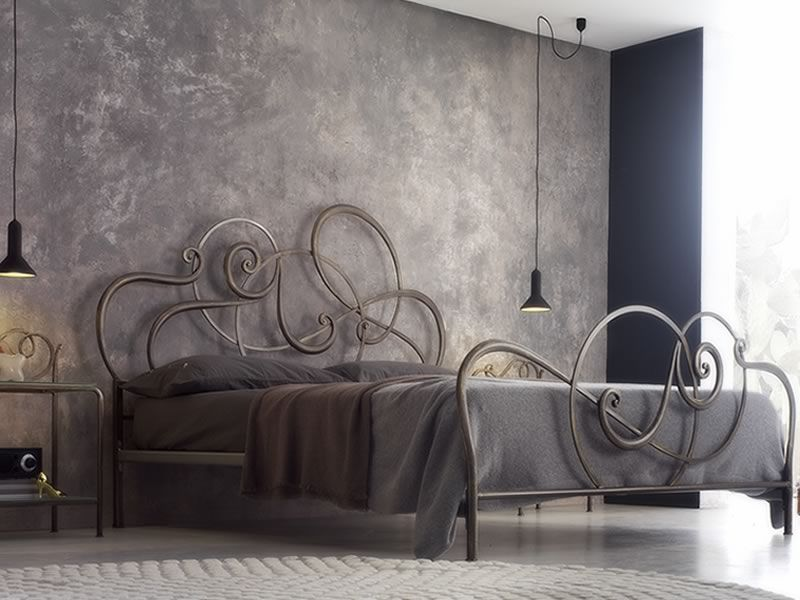 jazz lit en fer forg disponible en plusieurs finitions. Black Bedroom Furniture Sets. Home Design Ideas