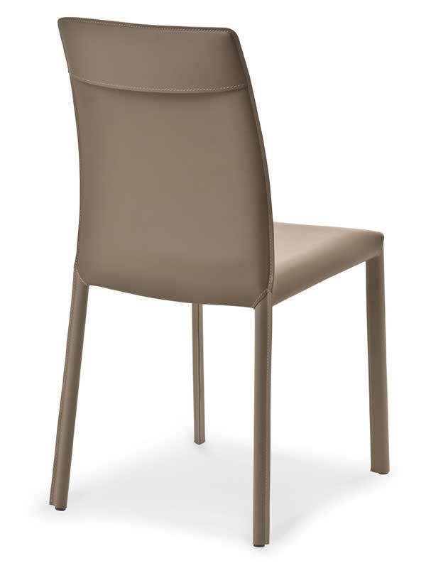 Md147 silla de metal tapizada en cuero en distintos - Sillas en cuero ...