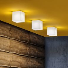 Beetle Cube - Ceiling lamp with polycarbonate lampshade, different colours and sizes available