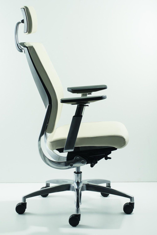 Ml450 silla de oficina con reposacabezas con asiento en for Asientos de oficina