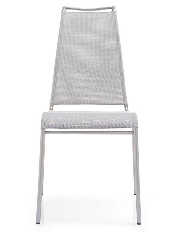 Cb1069 air high per bar e ristoranti sedia da bar for Sedie struttura acciaio satinato