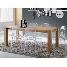 PA118A | Tavolo allungabile in legno, piano 160x90 cm o 185x90 cm, disponibile in diverse misure e finiture